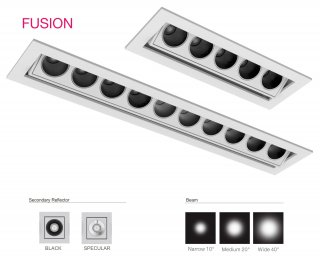 Fusion starr 1 LED 10° 3000K Schwarz On/Off